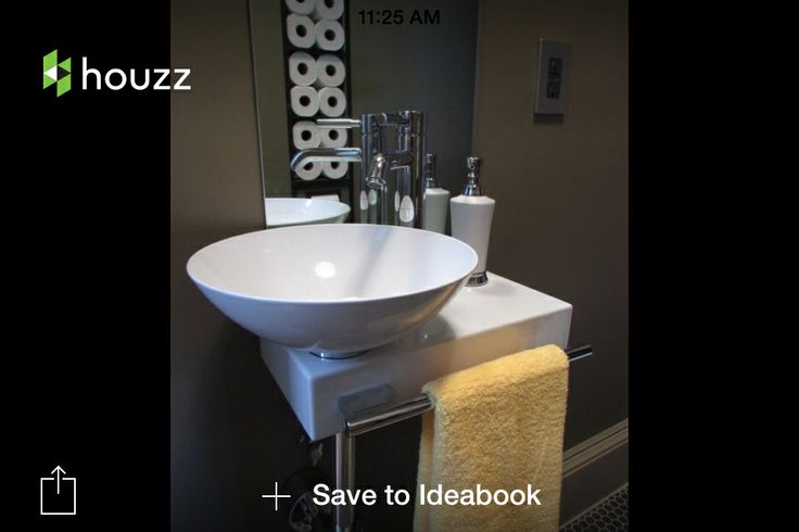 ... from inside ideas Pinterest Powder Rooms, Sinks and Powder