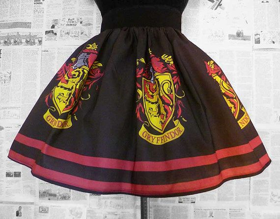Gryffindor, Harry Potter, Geek Costume, Harry potter Skirt, ROOBY LANE on Etsy, $71.49