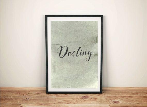 Destiny minimalist poster quote typography quote by cre8corner