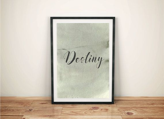 Destiny minimalist poster quote typography quote by cre8corner