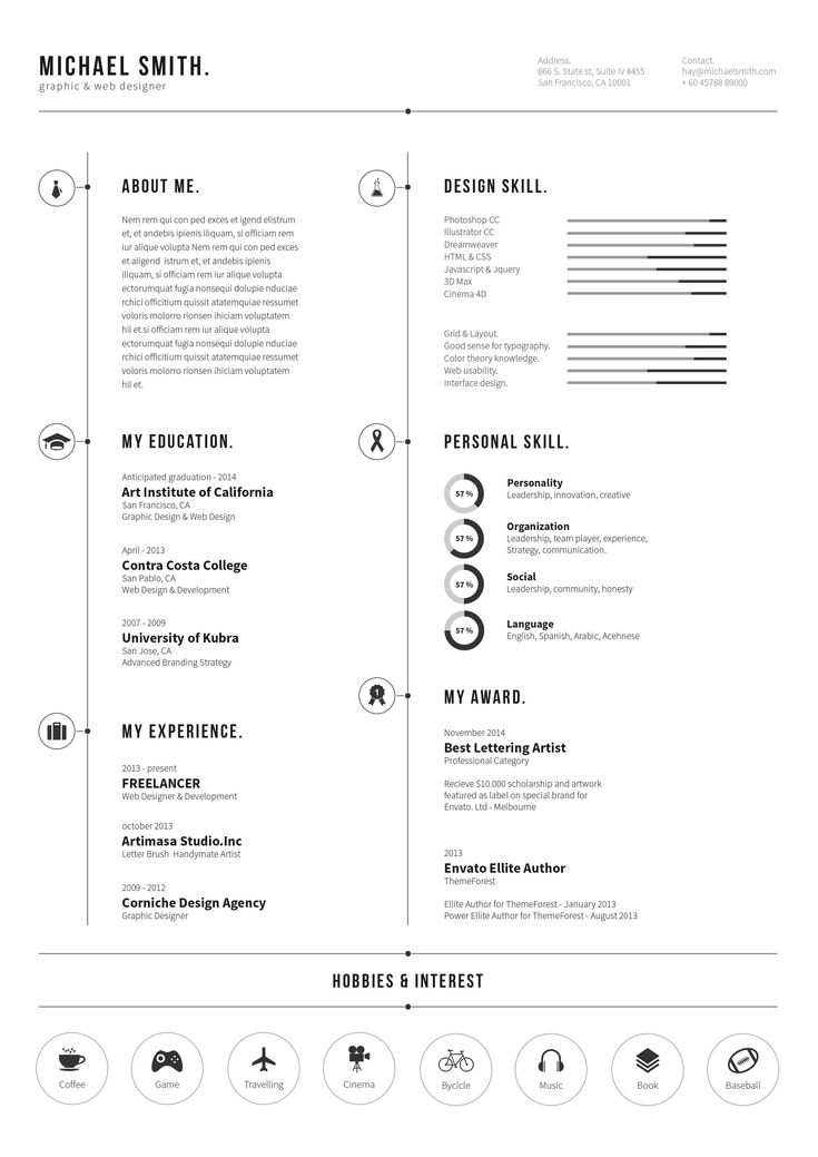 54 best Cv images on Pinterest Resume templates, Resume and - visually appealing resume