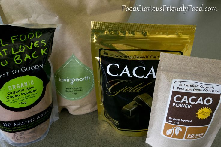 Raw Cacao Powder Review.  I compared a few cacao powders and tell you what I think! Also find out the difference between cocoa and cacao! http://www.foodgloriousfriendlyfood.com/blog-and-recipes/raw-cacao-powder-review
