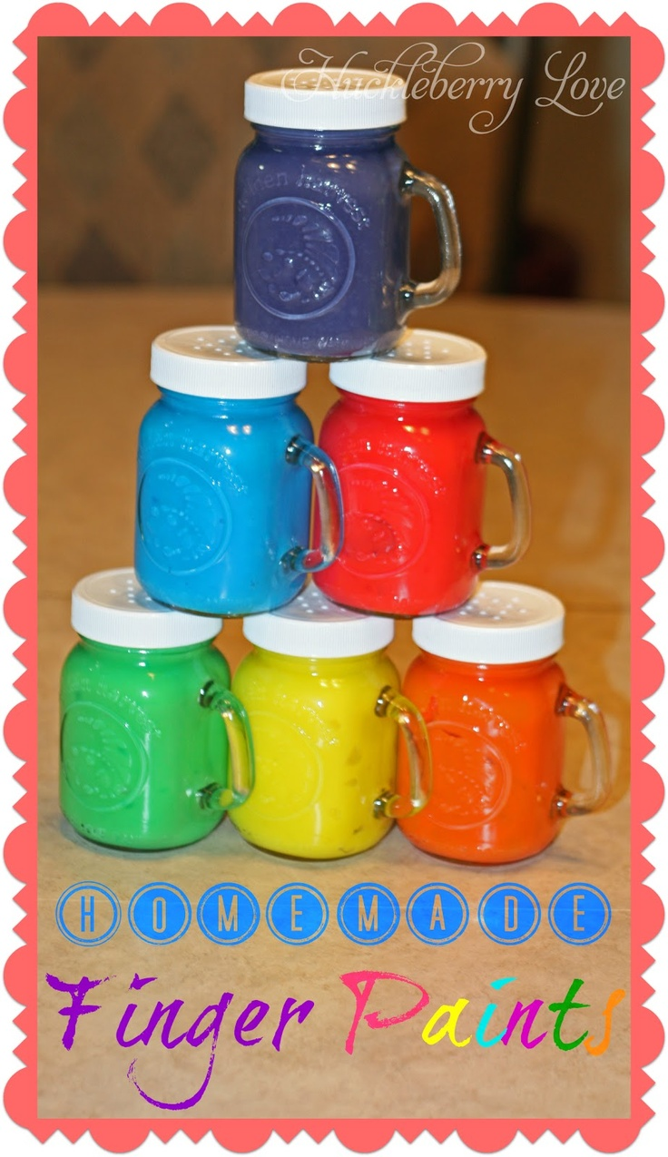 Homemade Finger Paint {Recipe}~water  ~cornstarch  ~sugar  ~salt  ~food colouring  ~sealable plastic bags  ~dish soap (optional)