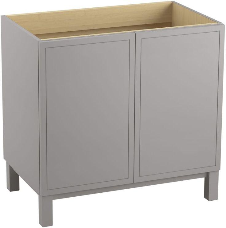 "Kohler K-99505-LG Jacquard 36"" Vanity Cabinet Only - Free Standing Installation Mohair Grey Fixture Vanity Single"