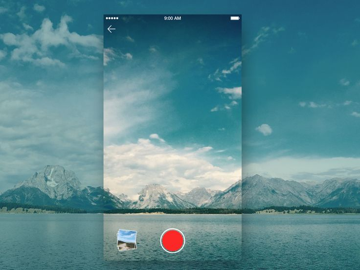 Daily UI - Day #8 iOS camera app design