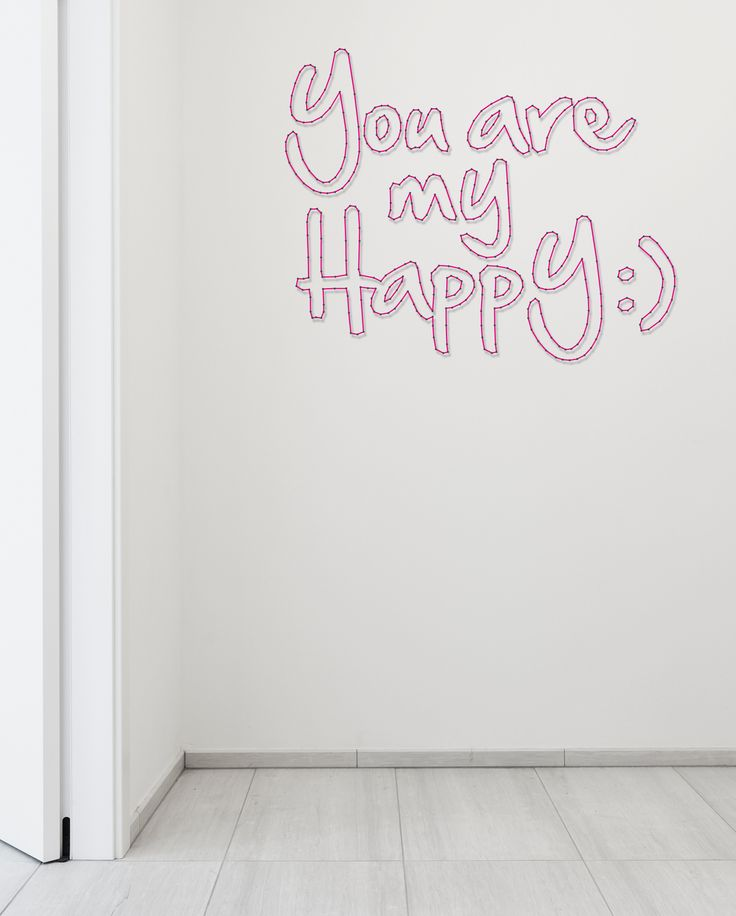 String-art pattern text YOU ARE MY HAPPY (90 x 72cm) available at spijkerpatroon.nl