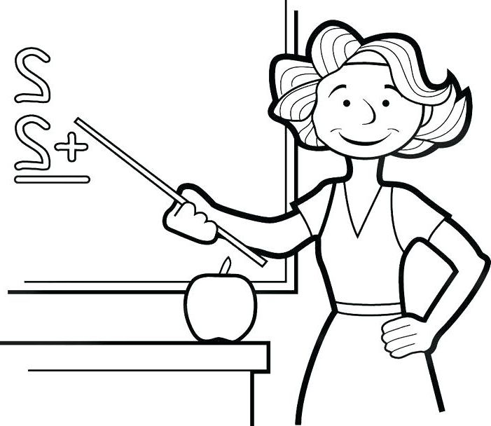 Teacher Coloring | Coloring pages, Cartoon coloring pages ...