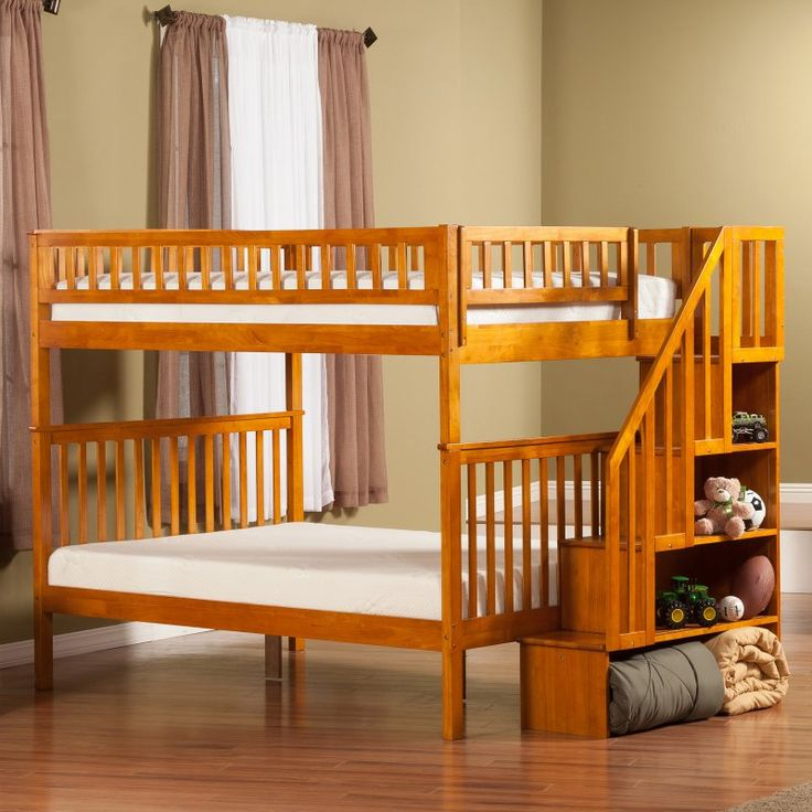 Woodland Full over Full Staircase Bunk Bed - AB568