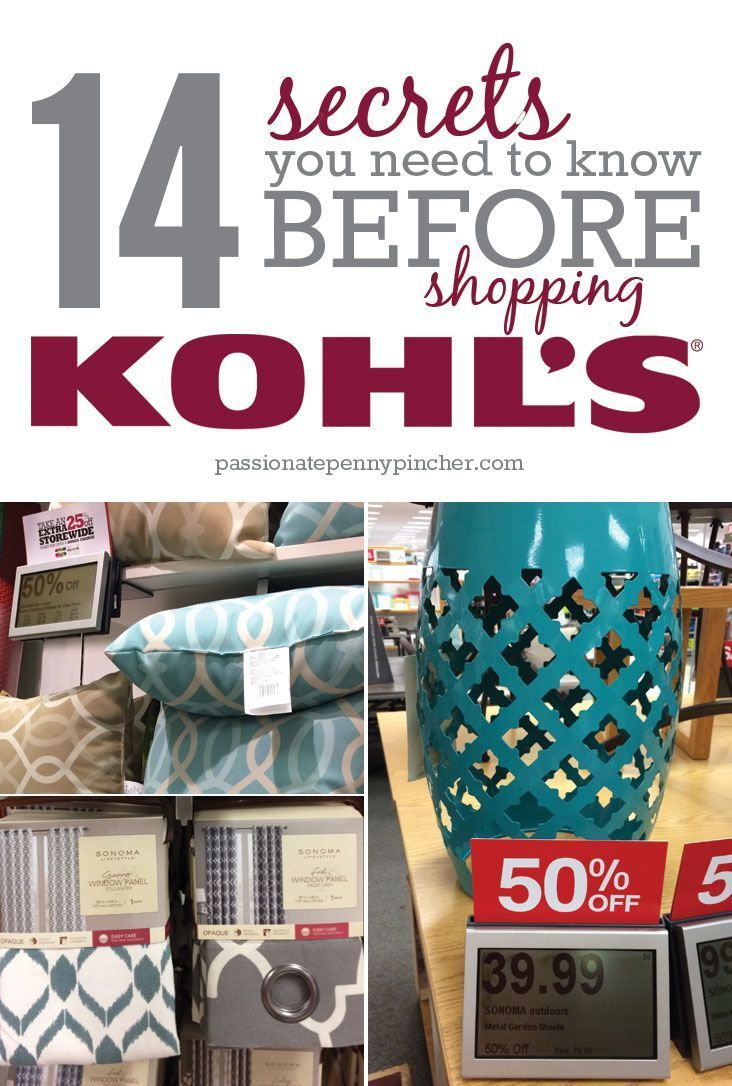 14 Secrets You Need to Know Before Shopping Kohl's. Passionate Penny Pincher is the #1 source printable & online coupons! Get your promo codes or coupons & save.