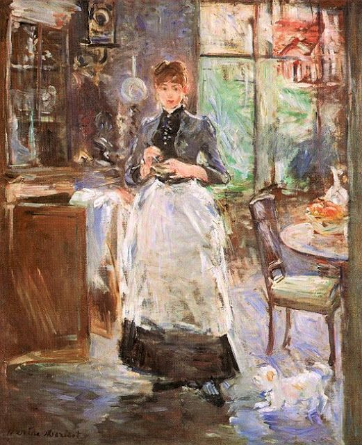BERTHE MORISOT: En el comedor, 1886