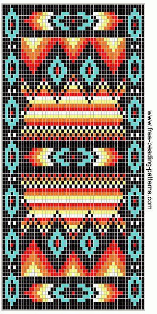 free beading patterns | free-beading-pattern-wallet-southwest-fire