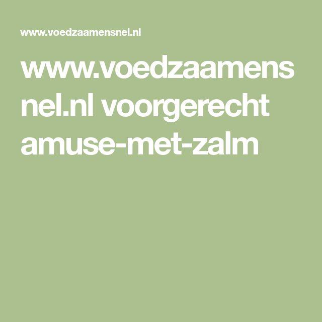 www.voedzaamensnel.nl voorgerecht amuse-met-zalm