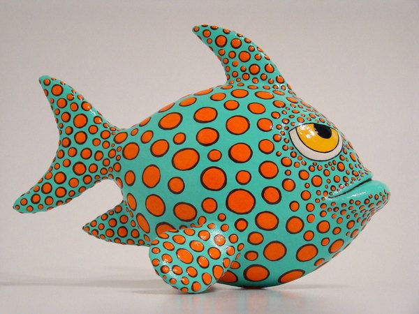 Papier Mache Fish by Nassos Karabatsos, via Behance