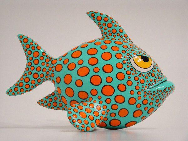 Papier Mache Fish by Nassos Karabatsos, via Behance