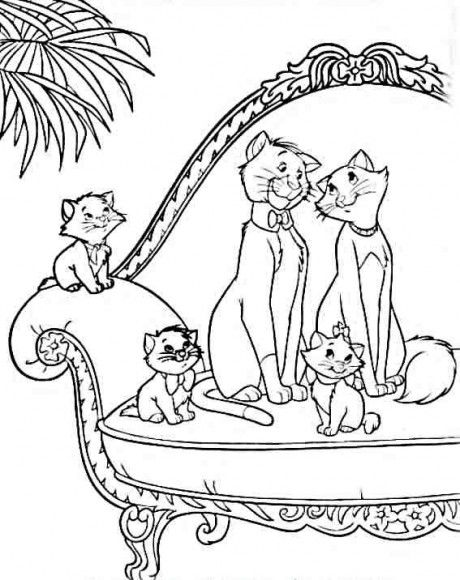aristocats coloring page print aristocats pictures to color at - Aristocats Kittens Coloring Pages
