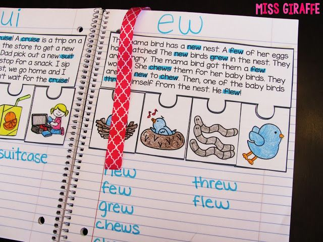 Phonics Fluency Notebooks - tape a ribbon to the back cover so kids can use it as a bookmark to easily find their place!