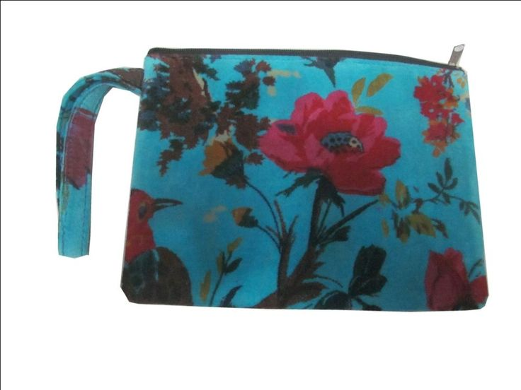 Case Cover Velvet Printed Fabric Ethnic Cotton Designer Wristlet Hand bags India #Handmade #IpadCaseCover