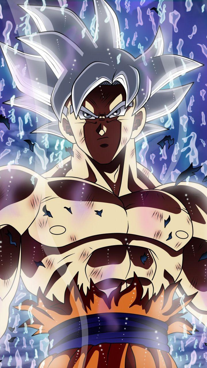 Ultra power, white hair, Dragon ball super, goku, 720x1280