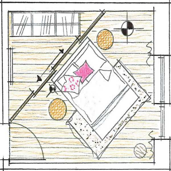 Raumteiler Schlafzimmer (wenn Schrank wieder aus Ankleide weg)