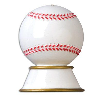 Personalized by Santa Sports Baseball Trophy Shaped Ornament