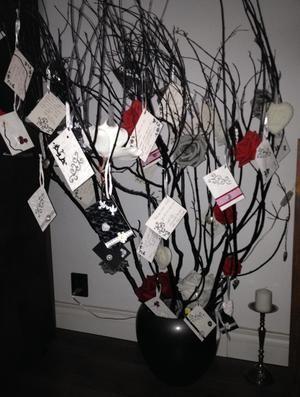 Bekijk de foto van DeniiSee met als titel Wensboom: takken van een struik uit de tuin (Blaadjes eraf halen) met in het midden een paastak gedaan, takken zwart gespoten in een pot gedaan met oase... bloemen en hangertjes erin (zelf versieren naar eigen zin) en wenskaartjes laten schrijven door je gasten en in de wensboom laten hangen voor bijvoorbeeld een bruiloft, babyshower, verjaardag etc. en andere inspirerende plaatjes op Welke.nl.