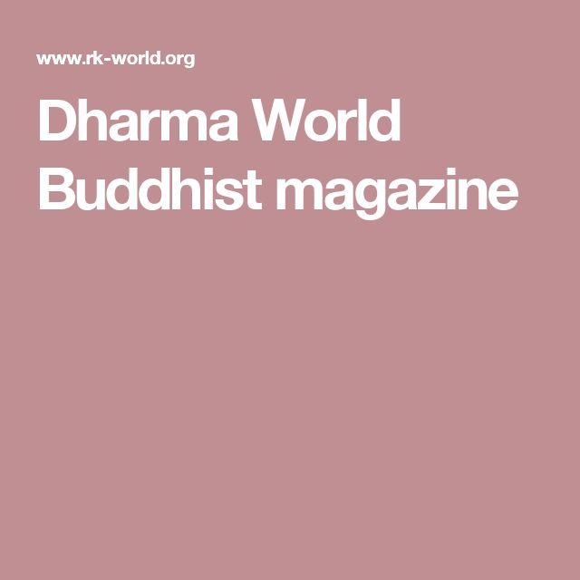 Dharma World Buddhist magazine