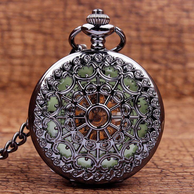 Vintage Classic Steampunk Bronze Pocket Watch Men Auto Stainless Steel Mens Woman mechanical pocket watch