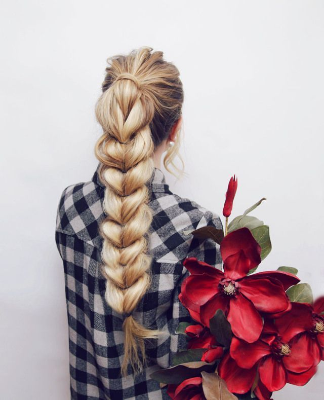 Pull Through Braid Hair Tutorial | Kassinka | Bloglovin'