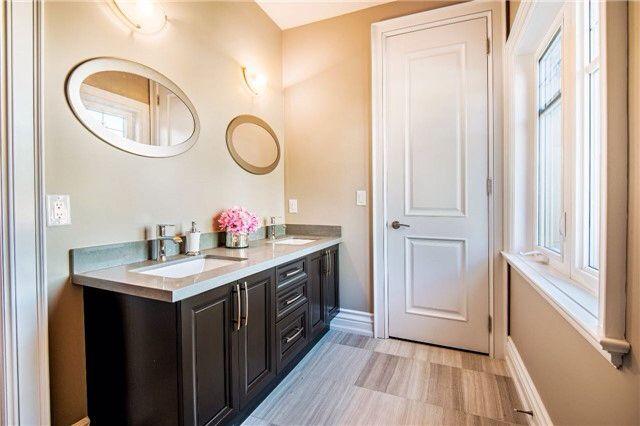 Upstairs washroom, bath tub and toilet in separate room
