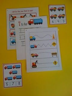 Construction trucks printables