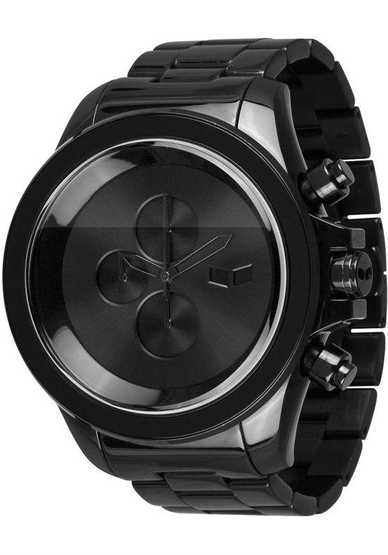 Vestal ZR3008 ZR3 Black Minimalist Chronograph..