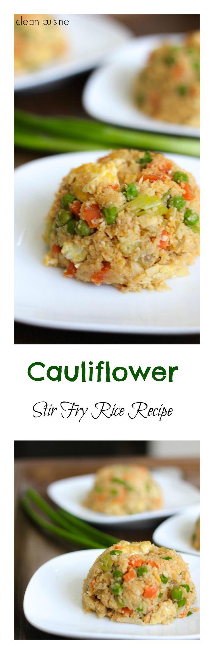 Grain-Free Chinese-Style Cauliflower Stir Fry Rice!
