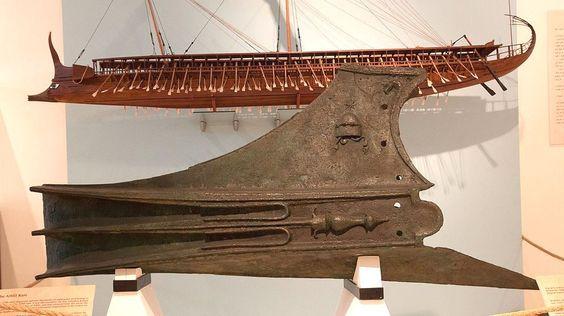 Greek Bronze Warship Ram,  C. 530-270 BC This was... at Ancient & Medieval History