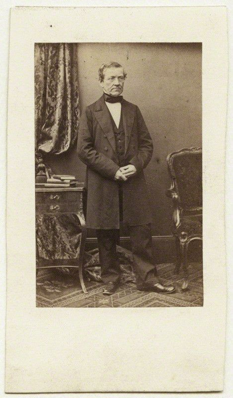 Sir Charles Wheatstone, early-mid 1860's. albumen carte-de-visite. National Portrait Gallery, London