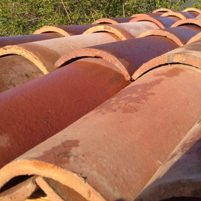 Mexican Style Roof Tile A Hays Town Used Clay Tiles For