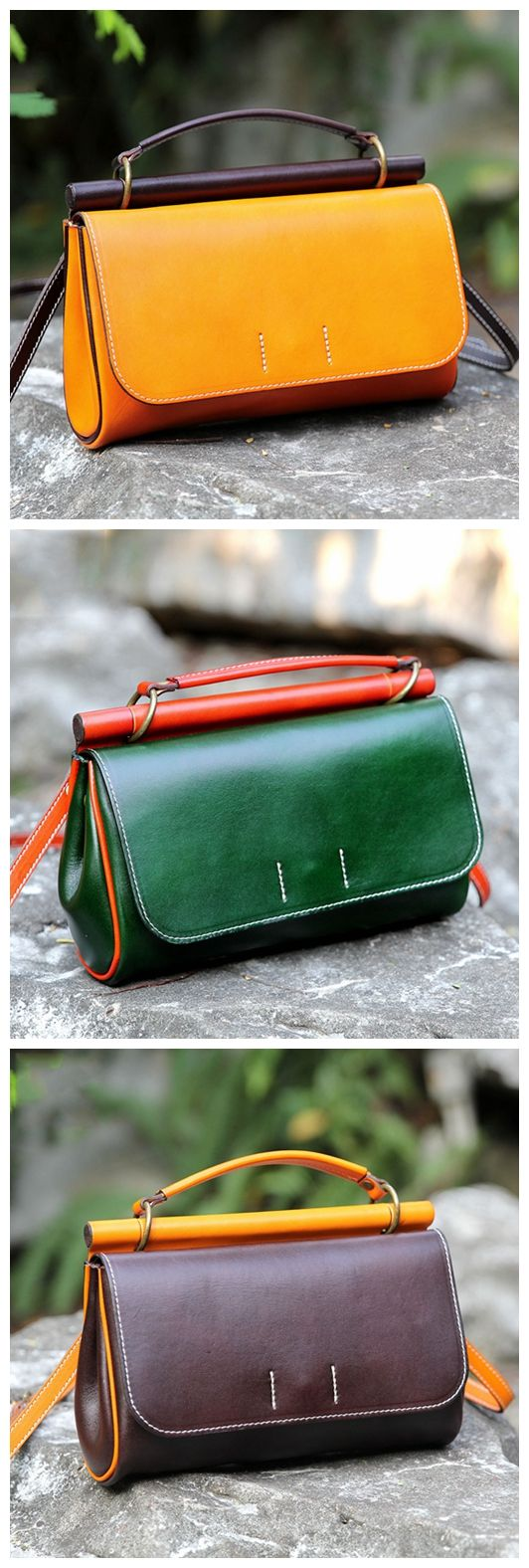 Handmade Genuine Leather Handbag Clutch Small Satchel Messenger for Women 14102Very best of Women Fashion