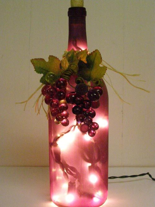 wine themed centerpieces | Wine Bottle light - Inspiring Wedding Favors Design with Decorative ...