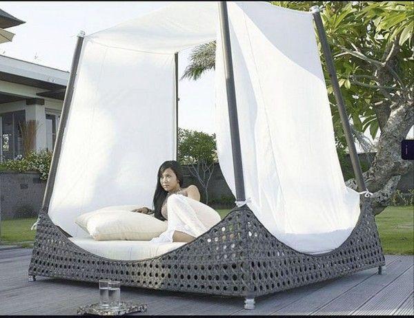 Design Ideen für Himmelbetten baldachin außen