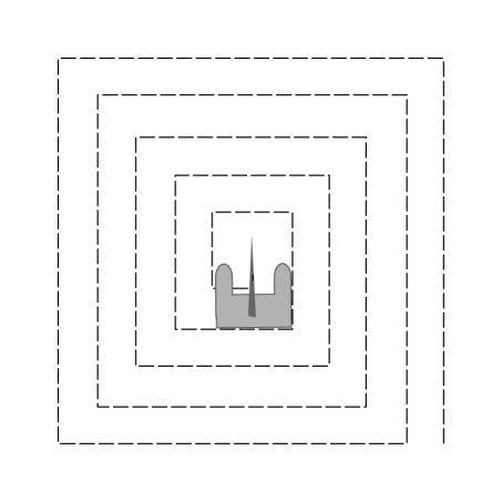 Coudre droit en labirinte, Apprendre à coudre les angles, cliquer ici https://soukietmelilia.wordpress.com/2015/06/20/coudre-droit/