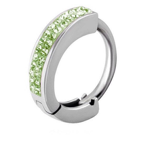 Tiffany Belly Huggie In Peridot Navel Ring  Snap Lock Belly Button Jewellery - Belly Bars Australia – bellylicious