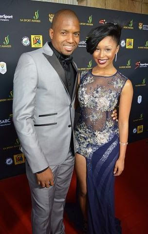 Itumeleng Khune and Minnie Dlamini