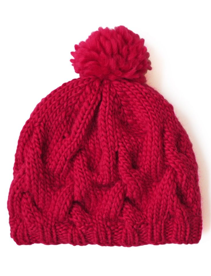 I've been enjoying making cable hats lately and I like that this is more relaxed. Free pattern attached