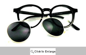 Greenpoint Round Clip-On Glasses - 175 Black