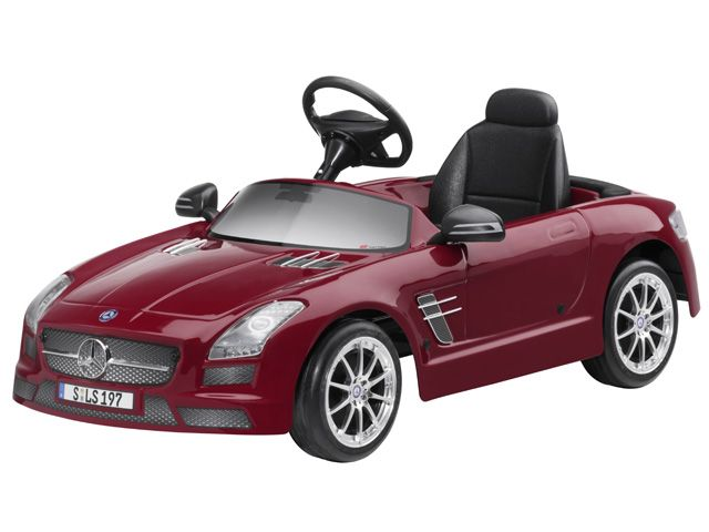 SLS AMG children electric-powered car B66960149 SLS AMG, childrens electric-powered car, Monza grey magno or Le Mans red.  Plastic. With 6 volt electric motor. Steel chassis with non-toxic paint finish. Plastic bodywork. Battery.  Charger. Accelerator. Electric brake. Forward and reverse gear. Ergonomic seat. Spacious interior.