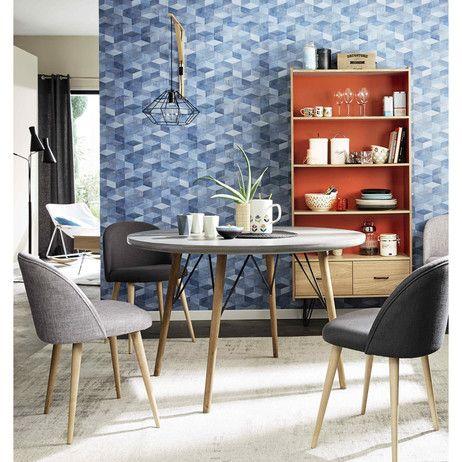 Tavolo rotondo in legno per sala da pranzo D 120 cm Cleveland   Maisons du Monde