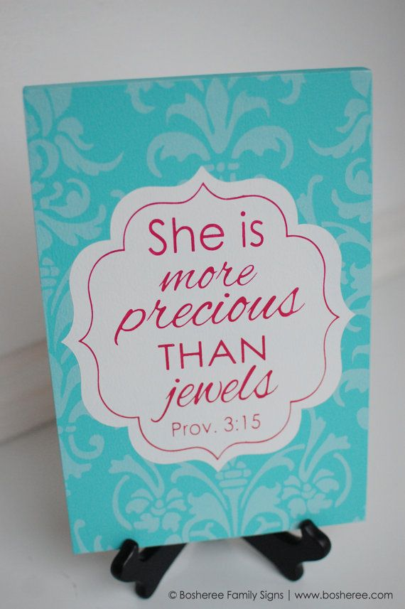 Bible Verse Quote Sign Painted Plaque Customized with by Bosheree- i like this verse for nursery