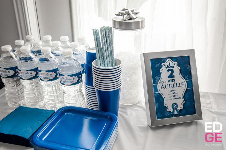 """Bouteille d'eau """"Olaf fondu"""" pour fête Reine des Neiges"""