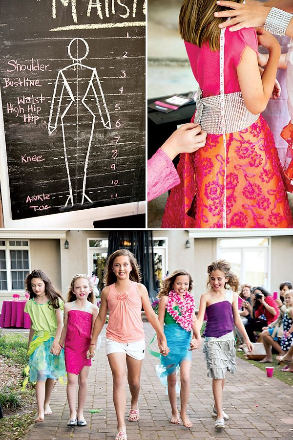 I wish I could go back in time and have this fashion birthday party for my 10th Birthday!
