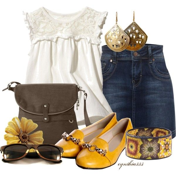 """""""Clay Flower Bracelet"""" by cynthia335 on Polyvore: Yellow Flowers, Clothing, Cute Outfits, Summer Outfits, Fashionista Trends, Flowers Bracelets, Flower Bracelet, Friendsclay Flowers, Friends Clay Flowers"""