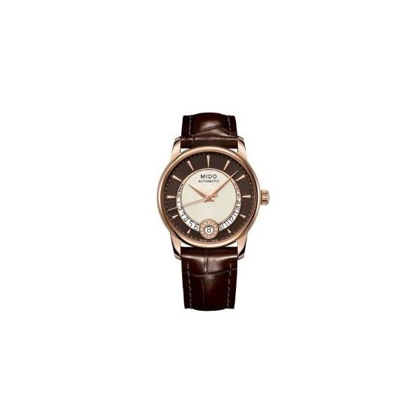 Mido Baroncelli Automatic Ladies Watch (39.355 RUB) ❤ liked on Polyvore featuring jewelry, watches, automatic movement watches, water resistant watches, dial watches, see through watches and transparent watches